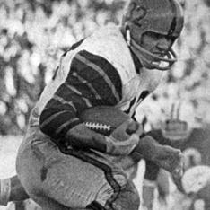 Cosmo Iacavazzi '65 during the 1964 Yale game.